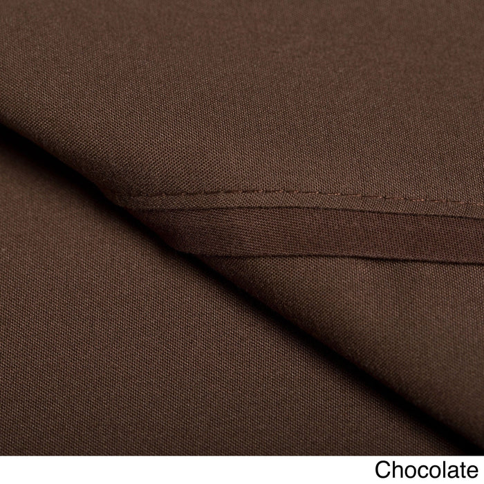 Duvet Cover Set with Shams 1500 Thread Count Chocolate