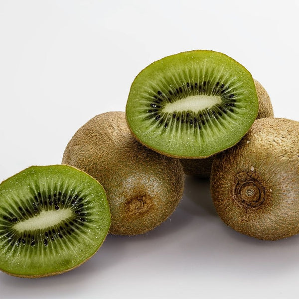 close up of cut kiwis