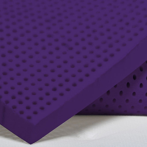 close up of a latex mattress topper