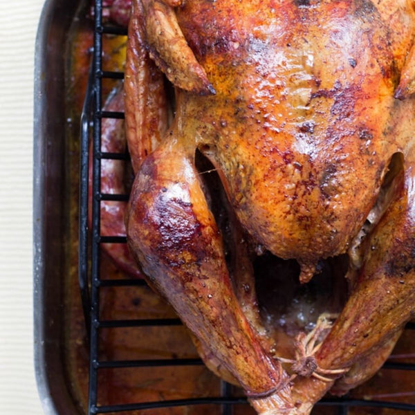 close up of a oven roasted turkey