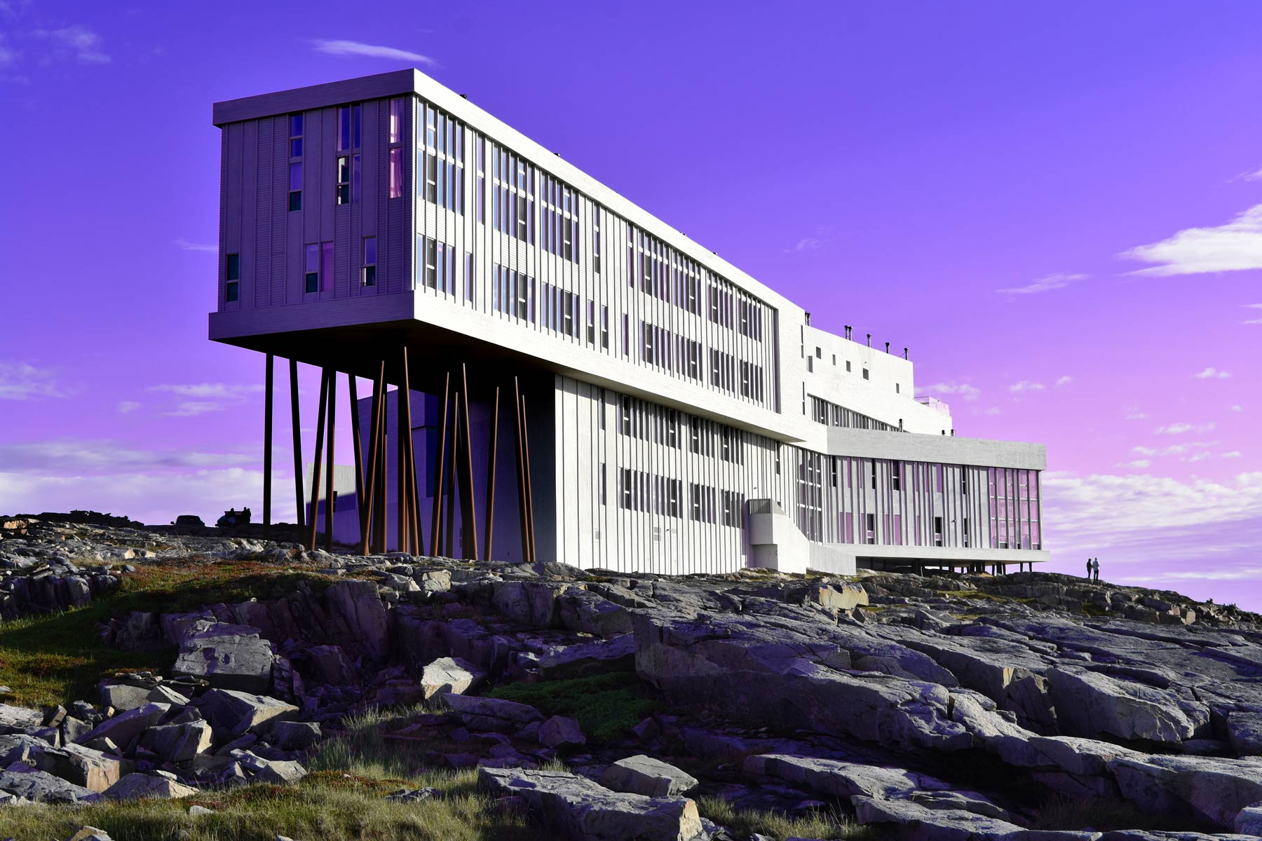 External view of Fogo Island Inn, Gander, Newfoundland