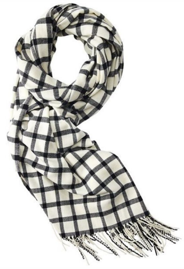 Love & Lore black and white checkered scarf for women from Indigo