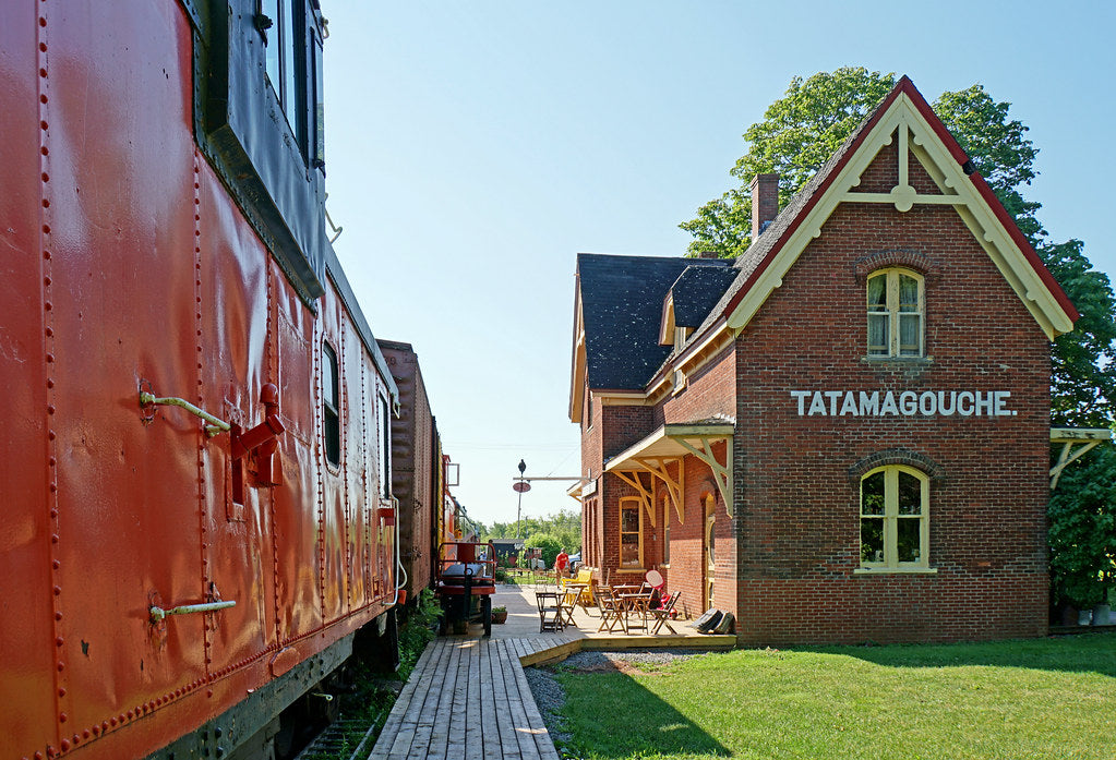 External view of Train Station Inn (Tatamagouche)in Nova Scotia