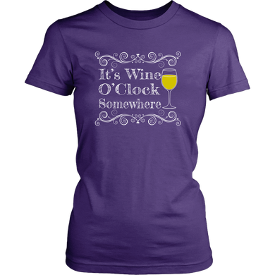 Wine O'Clock Somewhere Shirt