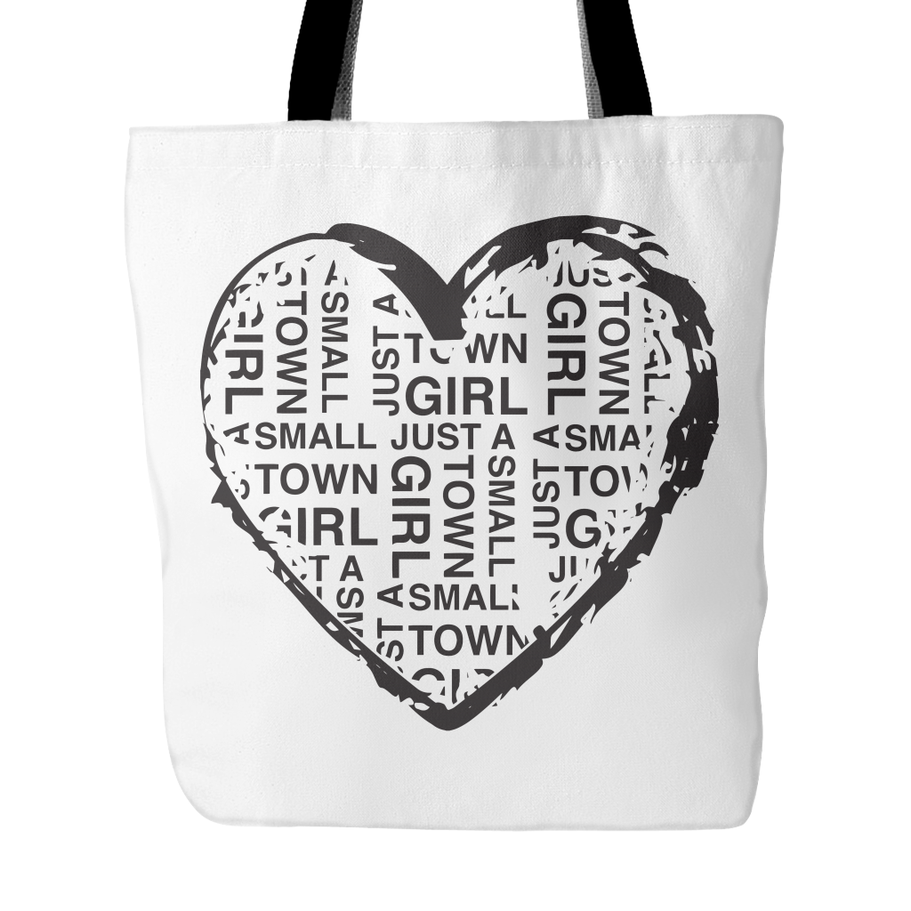 Small Town Girl Heart Tote
