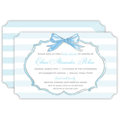 Bow Frame Invitation | Blue