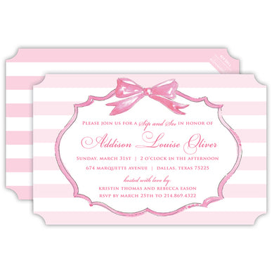 Bow Frame Invitation | Pink