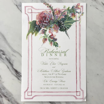 Bygone Blooms Invitation