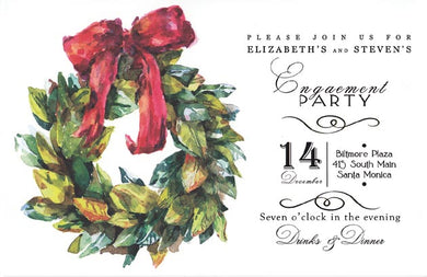 Magnolia Wreath Invitation