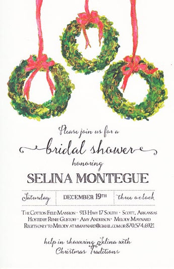 3 Box Wreaths Invitation