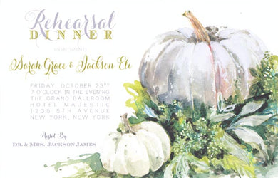 Shadow Pumpkin Invitation