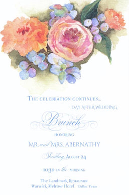 Blueberries & Color of Cantaloupe Invitation