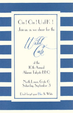 Blue & White Invitation
