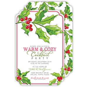 Holly & Berries Invitation