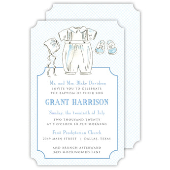 Christening Suit Invitation