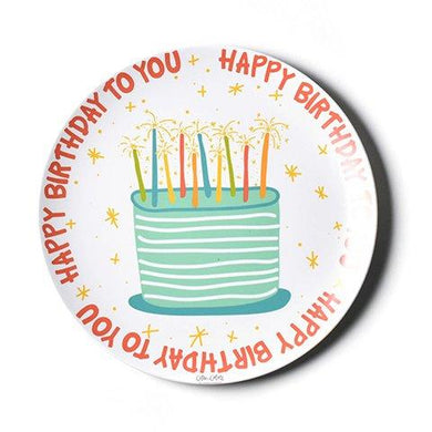 Happy Birthday Melamine Plate