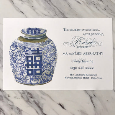 Ginger Jar Invitation