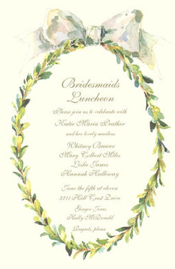 Boxed Wreath Invitation