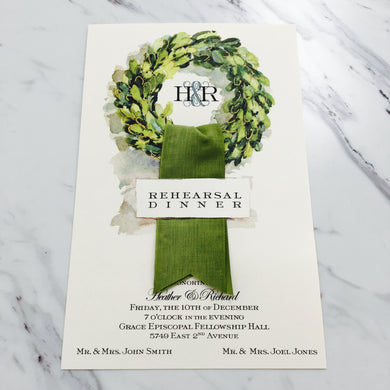Boxwood Linen Invitation