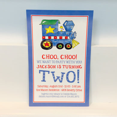 Birthday Choo Choo Invitation