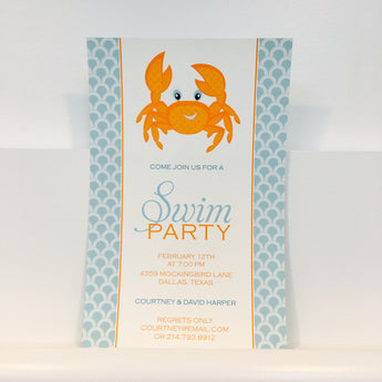 Crawling Crab Invitation