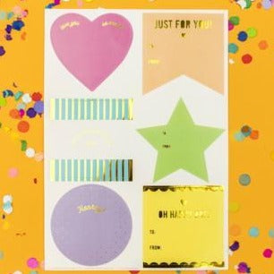 Neon Gift Tag Stickers