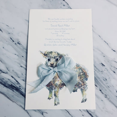 Baaaaa Blue Invitation