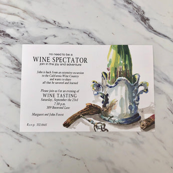 Cork Screw Invitation