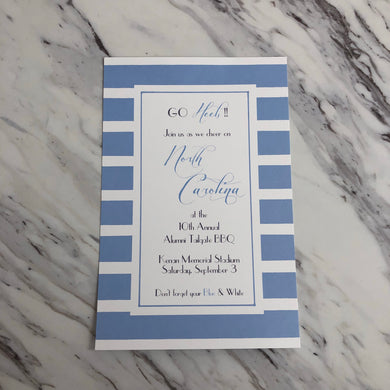 NC Blue & White Invitation