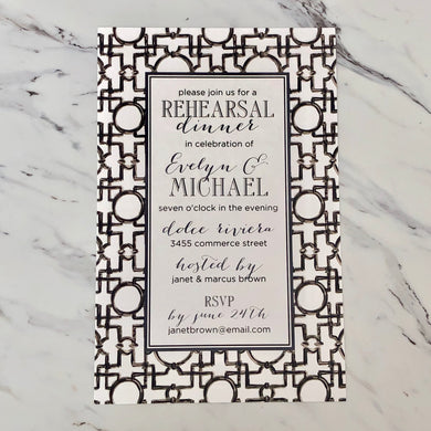 Asian Trellis Invitation