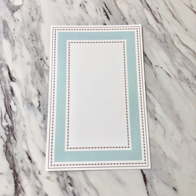 Dots with Aqua Invitation