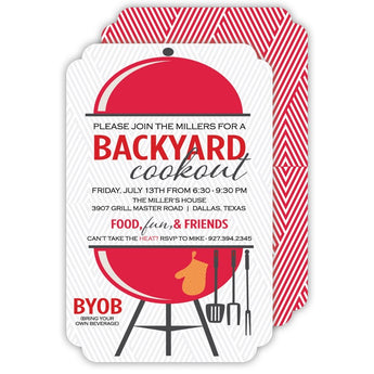 Backyard Grill Invitation