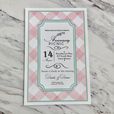 Buffalo Blush Invitation
