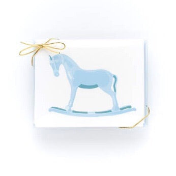 Blue Rocking Horse Stationery