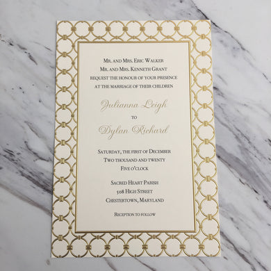 Athena Ivory Invitation