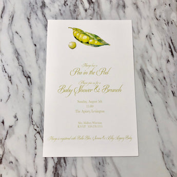 Pea Pod Invitation