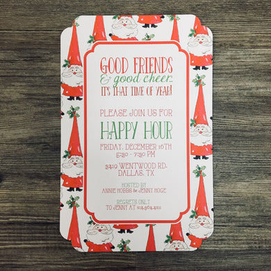 Holly Santa Invitation