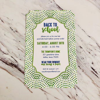 Lime Dot Invitation