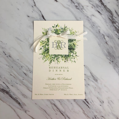 1st Green of Spring Invitation