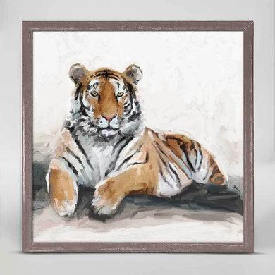 Resting Tiger | Mini Framed Canvas