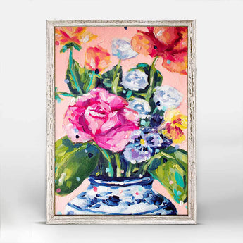 Royal Blooms | Mini Framed Canvas