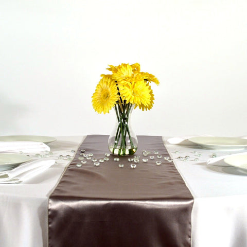 Paloma Gray Satin Table Runners
