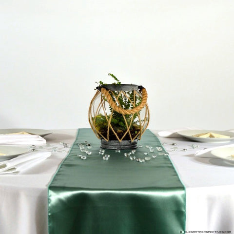 Mint Satin Table Runners