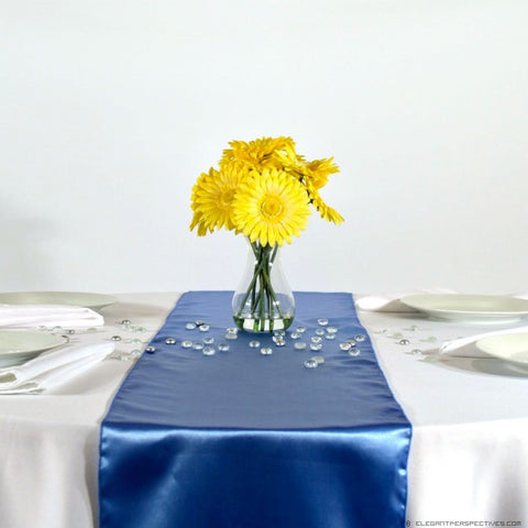 Placid Blue Satin Table Runners
