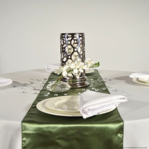 Celadon Green Satin Table Runners