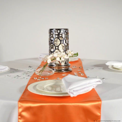 Burnt Orange Satin Table Runners