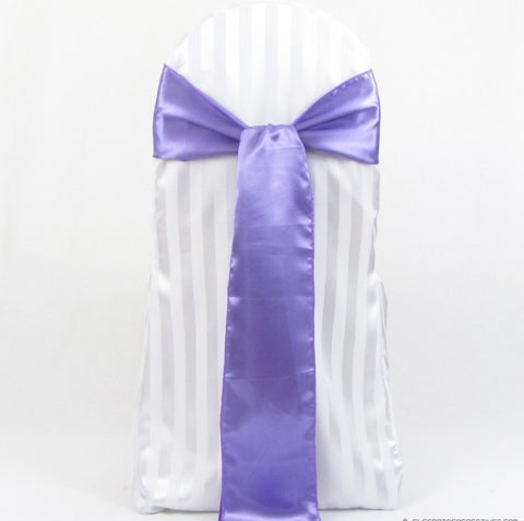 Violet / Tulip Satin Sashes