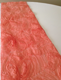 Coral Chiffon Rosette Table Runners