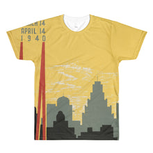 Chicago Skyline 1940 Vintage All-Over Printed T-shirt - Old McLeod Trading Co Product