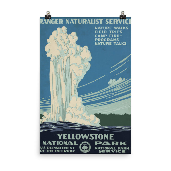 Yellowstone National Park Vintage WPA Printed Poster - Old McLeod Trading Co Product
